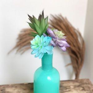 Set of 3 Faux Succulent Cactus Inserts Vase Filler